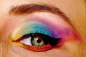 One of Alena's rainbow eyes, created by Jessica
